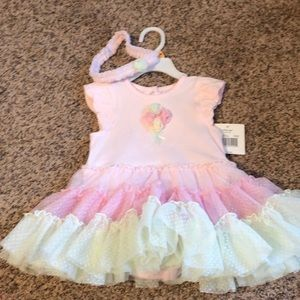 Tutu dress with matching headband NEW
